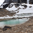 Pond and glacier, Mount Edith Cavell, Jasper NP (Canada) — Stock Photo #30307779