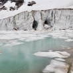 Glacier of Mount Edith Cavell, Jasper National Park (Canada) — Stock Photo #30307963