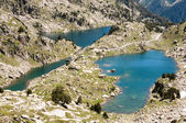 Lakes at Aiguestortes and Sant Maurici NP, Pyrenees (Spain) — Stock Photo