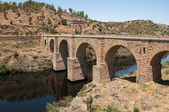 Roman bridge of Alcantara, Caceres Province, Extremadura (Spain) — Stock Photo