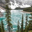 Stock Photo: Moraine Lake in Spring, Rocky Mountains (Canada)