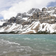 Bow Lake in Spring, Rocky Mountains (Canada) — Stock Photo