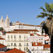 Alfama neighborhood and Monastery of Sao Vicente de Fora, Lisbon — Stock Photo #38175777