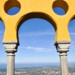 Arabian style arches of Pena Palace, Sintra, Portugal — Stock Photo #38176251