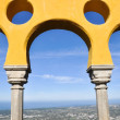 Arabian style arches of Pena Palace, Sintra, Portugal — Stock Photo