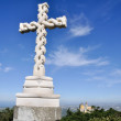 Cross on the top a hill,Pena Palace, Sintra (Portugal) — Stock Photo