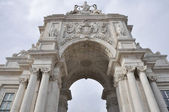 The Triumph Arch of Augusta Street in Lisbon (Portugal) — Stock Photo