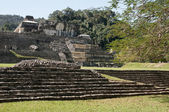 The palace, ancient Mayan city of Palenque (Mexico) — Stock Photo