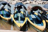 Tourist boats on Usumacinta river going to Yaxchilan (Mexico) — Stock Photo