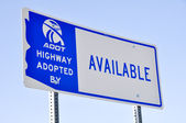 Adopt a Highway billboard — Stock Photo