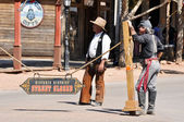 Re-enactment of the OK Corral gunfight on April 18, 2011 in Tombstone, Arizona. — Stock Photo