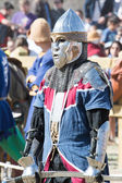 Fighter on the World Championship of Medieval Combat on May 2, 2014 in Belmonte, Cuenca, Spain. — Stock Photo