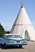 Wigwam Motel on Route 66 on May 4, 2011 in Holbrook, Arizona. — Stock Photo