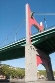 La Salve bridge on June 12, 2013 in Bilbao, Spain  The It was opened on 9 January 1972, — Stock Photo