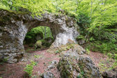 Natural arch of Zalamportillo, Entzia mountain range (Spain) — Stock Photo