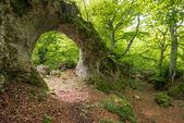 Natural arch of Zalamportillo, Entzia mountain range (Spain) — Stock Photo