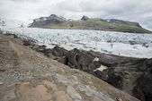 Svinafell Glacier, Vatnajokull national park, Iceland — Stock Photo