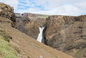 Litlanesfoss waterfall and basaltic rocks, Iceland — Foto de Stock