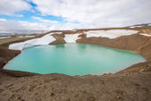 Viti crater at Krafla geothermal area, Iceland — Stock Photo