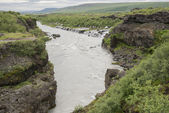 храунфоссар водопад, исландия — Стоковое фото