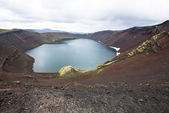 Ljotipollur crater lake, Landmannalaugar, Iceland — Photo