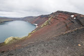 Ljotipollur crater lake, Landmannalaugar, Iceland — Stock Photo