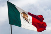 Flag of Mexico, Zocalo, Mexico City — Stock Photo