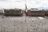 Constitution Square view from the Metropolitan Cathedral, Mexico City — Stock Photo