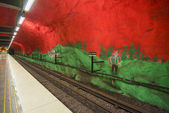 Solna Centrum metro station, Stockholm, Sweden — Stock Photo