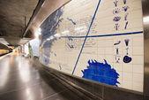 Universitetet metro station in Stockholm, Sweden — Stock Photo
