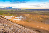 View from the top of the Namafjall, Iceland — Stock Photo
