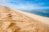 View from the dune of Pyla, highest in Europe (France) — Stock Photo