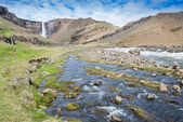 Landscape near Hengifoss waterfall, Iceland — Stock Photo