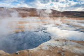 Mud Pots in the geothermal area Hverir, Iceland — Stock Photo