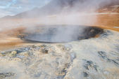 Mud pots in the geothermal area Hverir, Iceland — Stockfoto