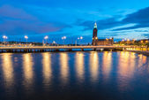 Summer evening panorama in the Old Town of Stockholm, Sweden — Stock Photo