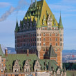 Chateau Frontenac in winter — Stock Photo