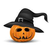 Halloween pumpkin realistic with heat — Stock Vector