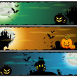 Halloween banners, set — Stock Vector