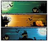 Halloween banners, set — Stock Vector