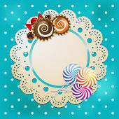 Candy on a lace — Stock Vector