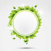 Ecology circle — Stock Vector