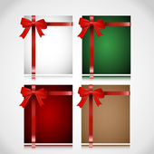 A set of Christmas cards — Stock Vector