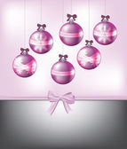 Pink Christmas card — Stock Vector