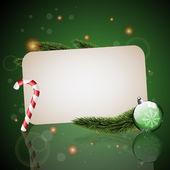 Christmas card, green — Stock Vector