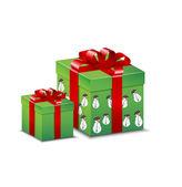 Green present width pattern — Stock Vector