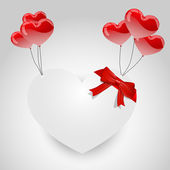 White paper hearth balloons — Stock Vector