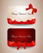 Tarjetas de San Valentín — Vector de stock