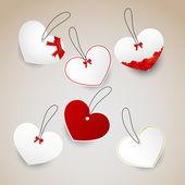 Heart tag — Stock Vector