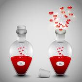 A love potion set — Stock Vector